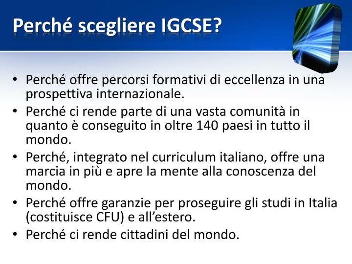 Perché scegliere IGCSE