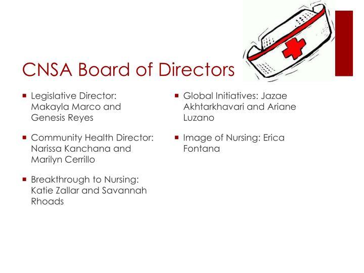 CNSA Board of Directors
