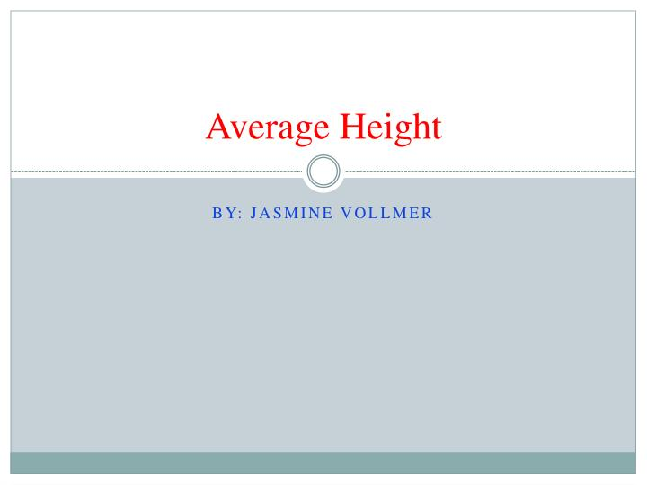 average height n.