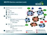 mdvpn service overview cont