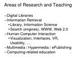 areas of research and teaching