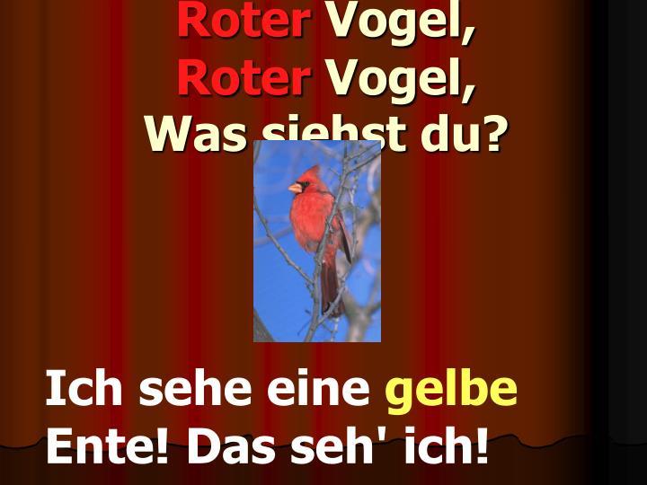Roter vogel roter vogel was siehst du
