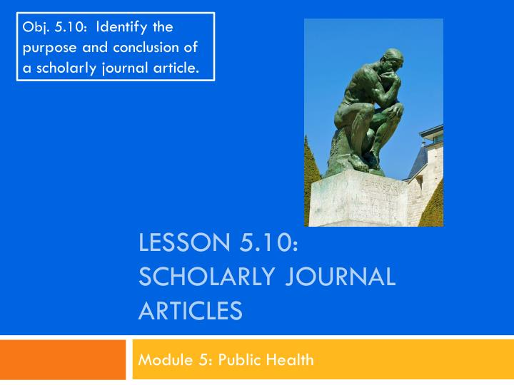 lesson 5 10 scholarly journal articles n.