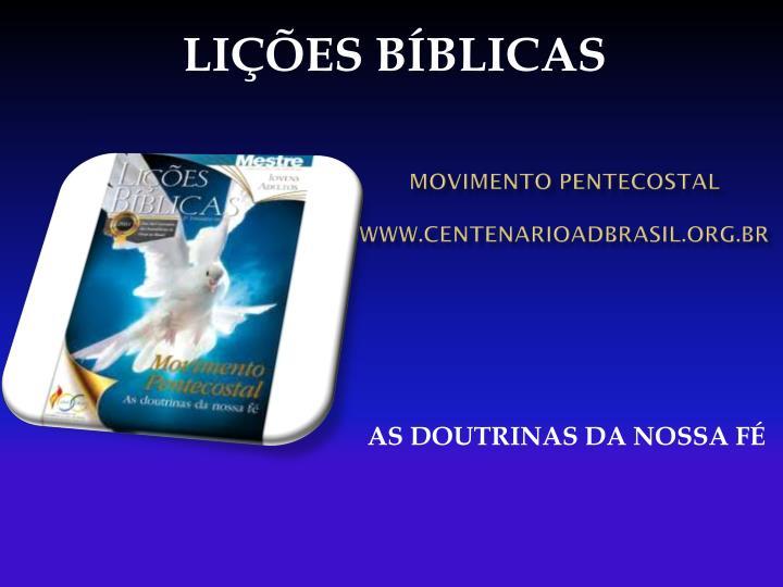 Movimento pentecostal www centenarioadbrasil org br