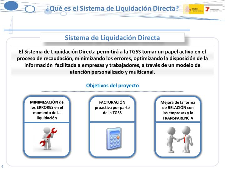 Sistema de Liquidación Directa