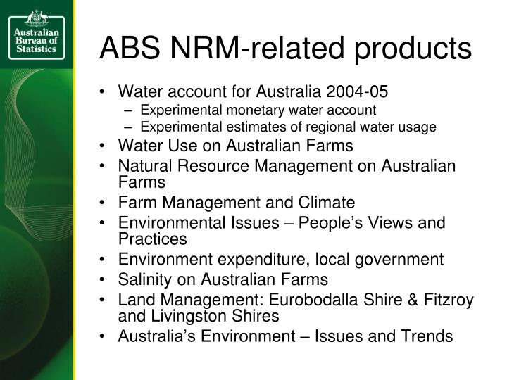 ABS NRM-related products