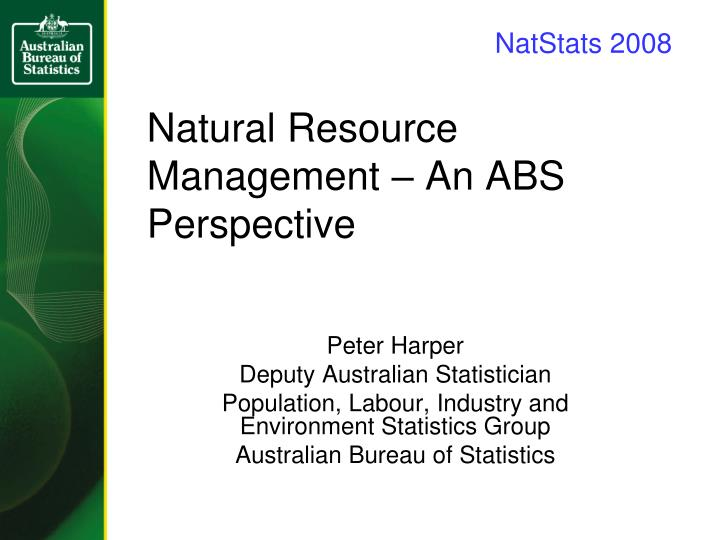 Natural resource management an abs perspective