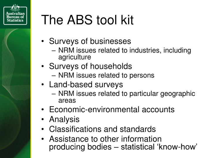 The ABS tool kit