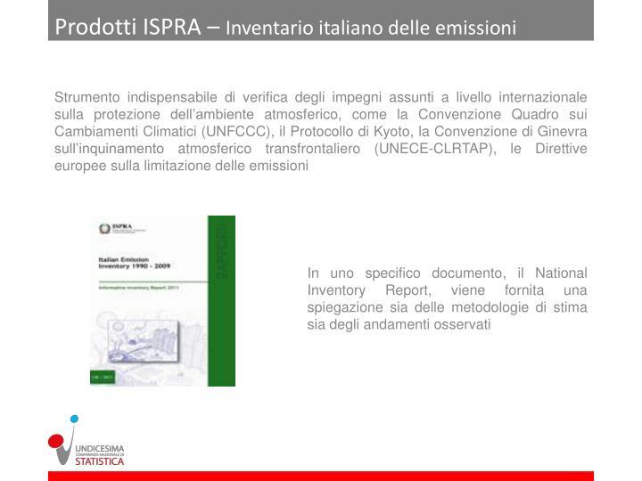 Prodotti ISPRA –