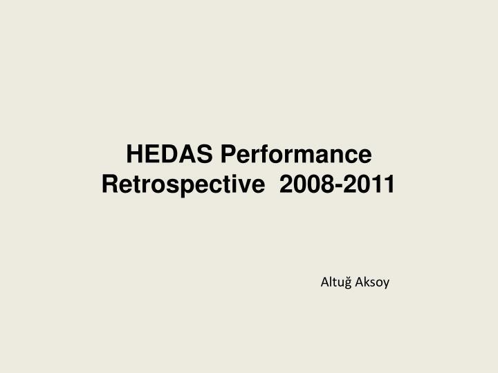 HEDAS Performance