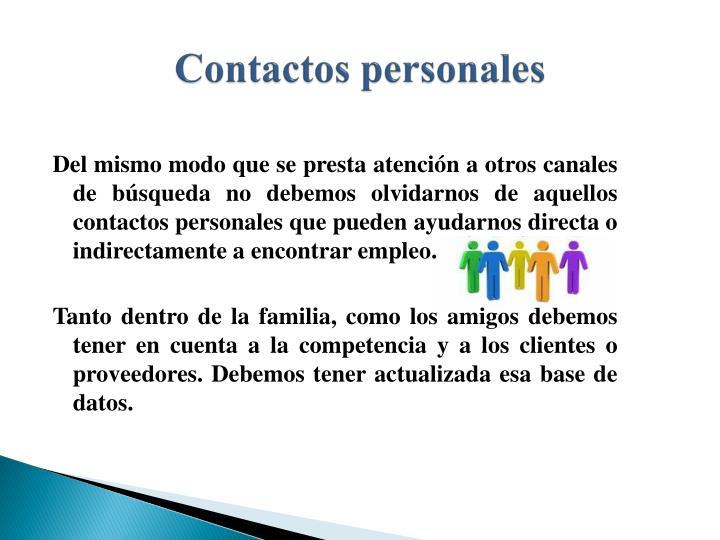 Contactos personales