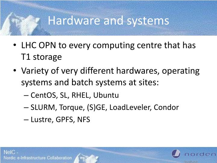 Hardware and systems