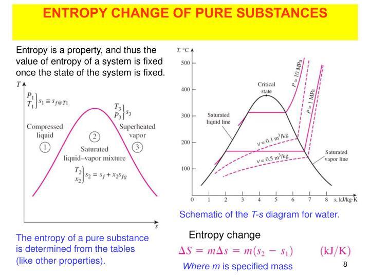 ENTROPY CHANGE OF PURE SUBSTANCES