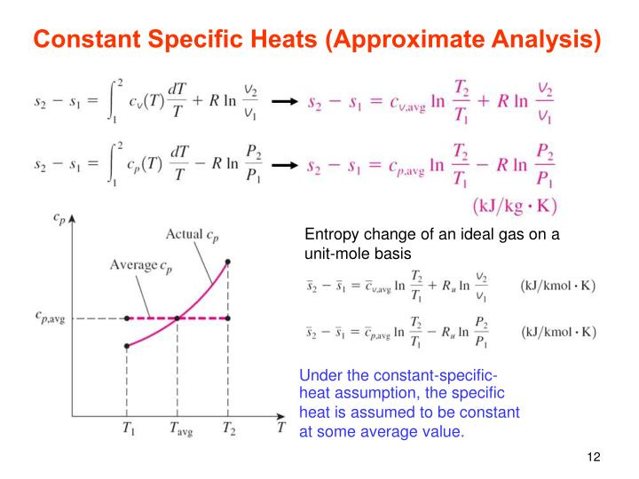Constant Specific Heats (Approximate Analysis)