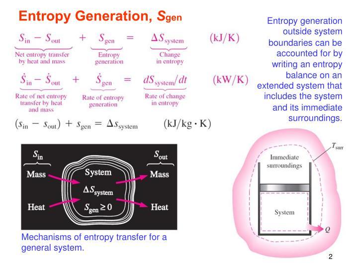 Entropy Generation,