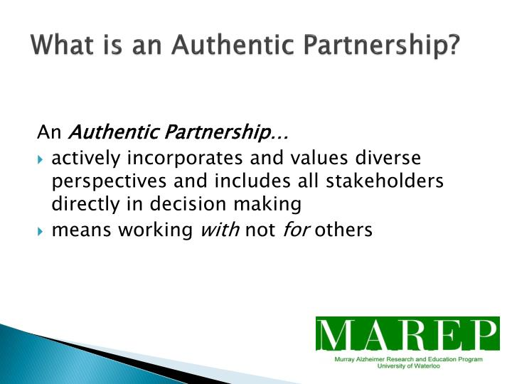 What is an Authentic Partnership?