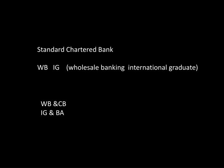 standard chartered bank essay questions Financial risks for banks 1881 words   8 pages regulator ie the central bank mitigate these risks question 2 5 discuss the various kinds of risks involved in outsourcing of financial services which in your opinion, standard chartered bank needs to.