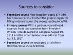 sources to consider