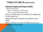tools to use in registration