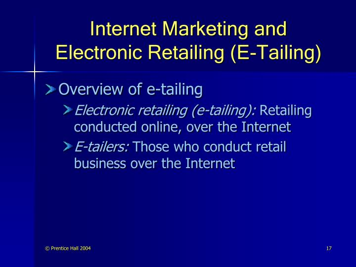 prospects of e tailing E-tailing like this topic add this to your profile buyers and exhibitors don't view their sales prospects for 2016 in quite the same way.