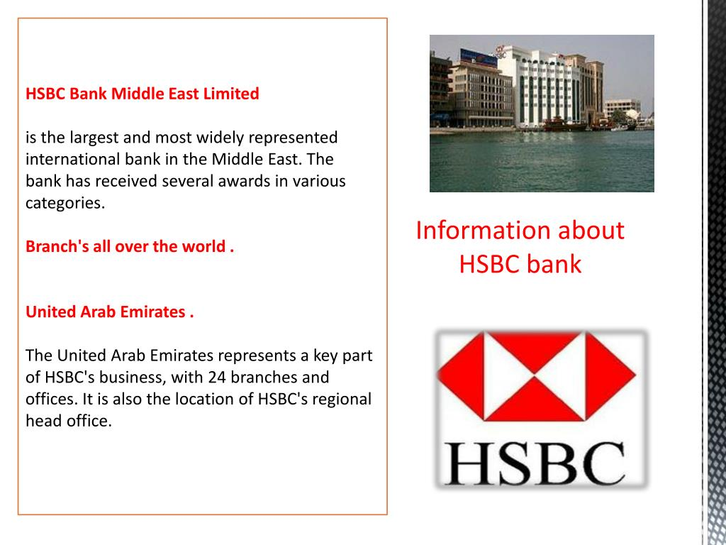 PPT - Presentation about HSBC bank PowerPoint Presentation - ID:6284450