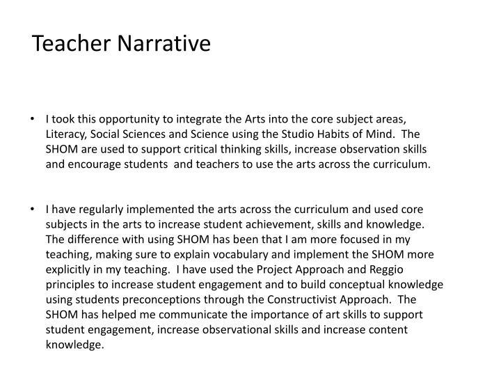 Teacher Narrative