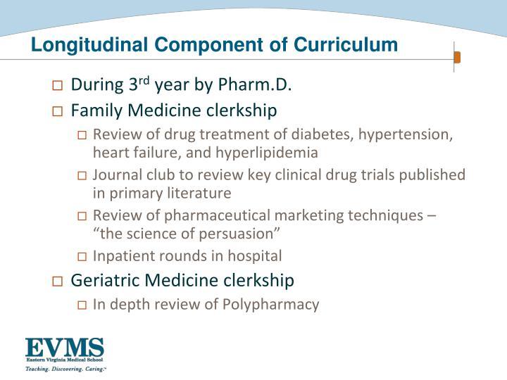 Longitudinal Component of Curriculum