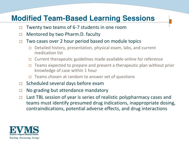 Modified Team-Based Learning Sessions