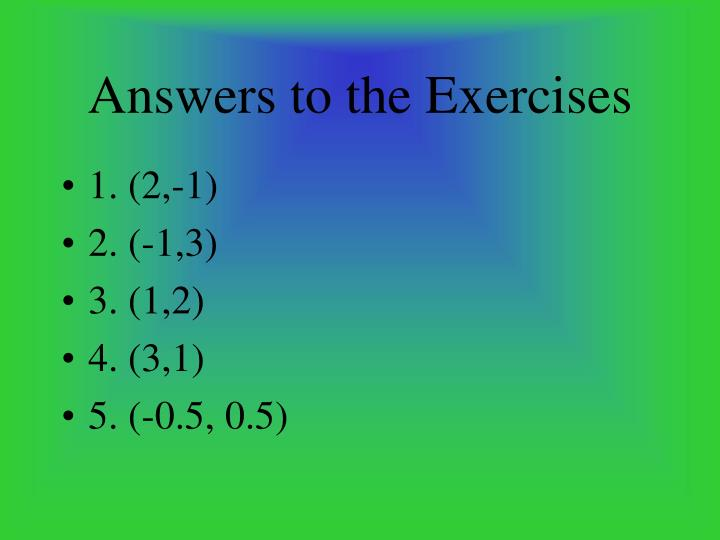 Answers to the