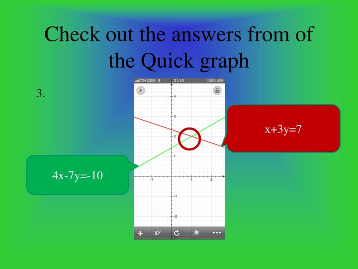 Check out the answers from of the Quick graph