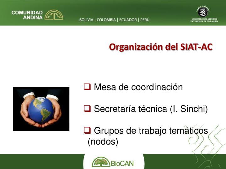 Organización del SIAT-AC