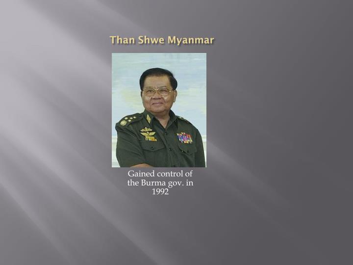 Than shwe myanmar
