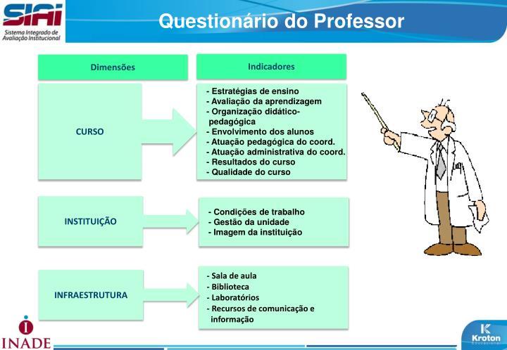 Questionário do Professor