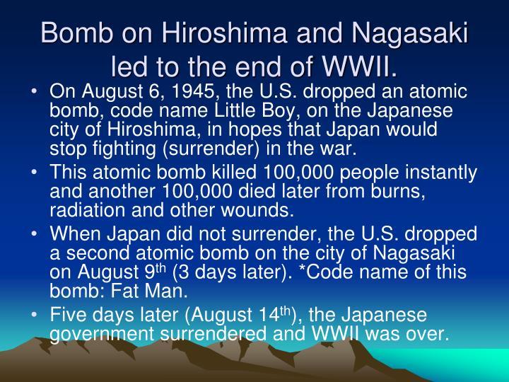 Bomb on Hiroshima and Nagasaki