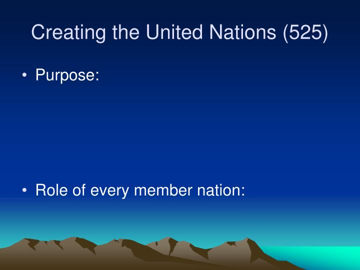 Creating the United Nations (525)