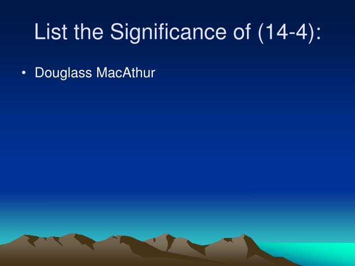 Douglass MacAthur