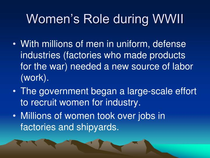 Women's Role during WWII