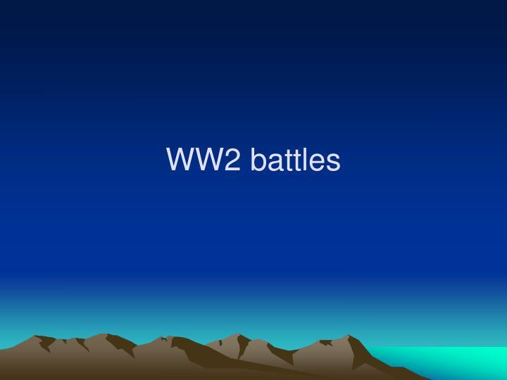 WW2 battles