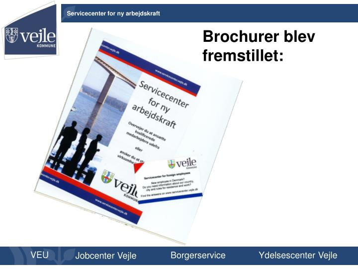 Brochurer blev fremstillet: