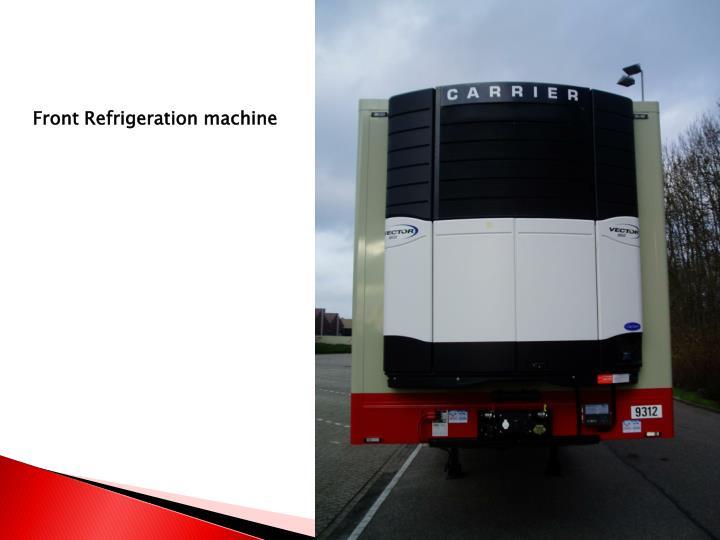 Front Refrigeration machine