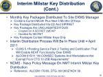 interim milstar key distribution cont