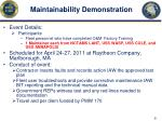 maintainability demonstration