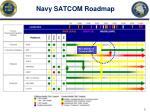 navy satcom roadmap
