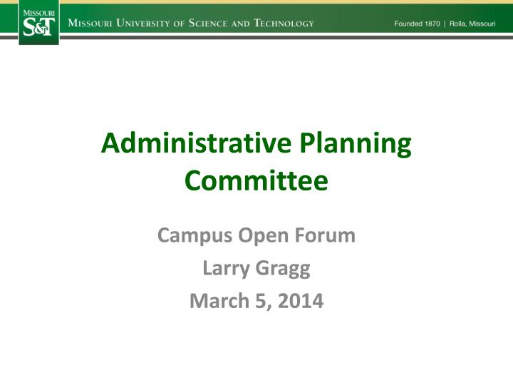 Administrative Planning Committee