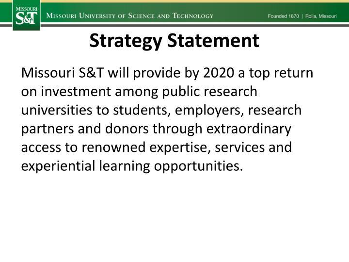 Strategy Statement