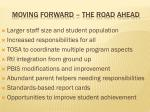 moving forward the road ahead