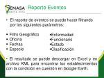 reporte eventos
