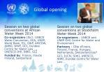 global opening