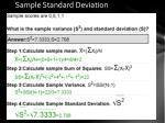 sample standard deviation