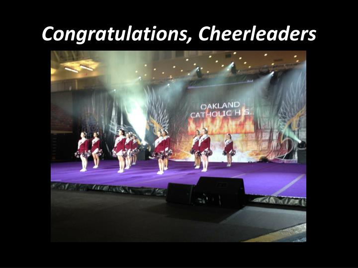 Congratulations, Cheerleaders